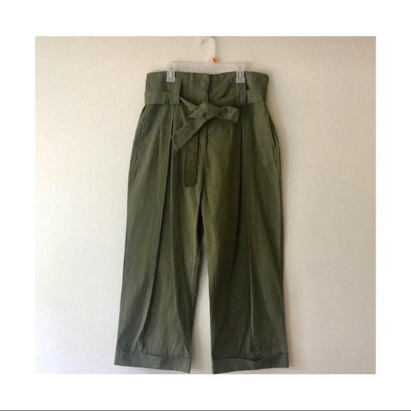 Lush Paper Bag Pants in Green
